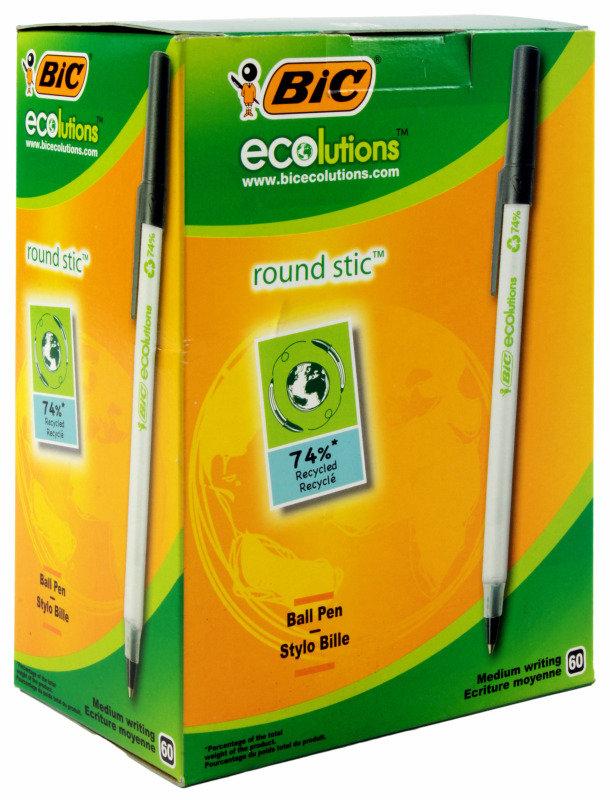 Bic Ecolutions Ballpen Blk 893239 - 60 Pack