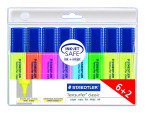 STAEDTLE HIGHLIGHTERS PK6 PLUS 2 ASSTD