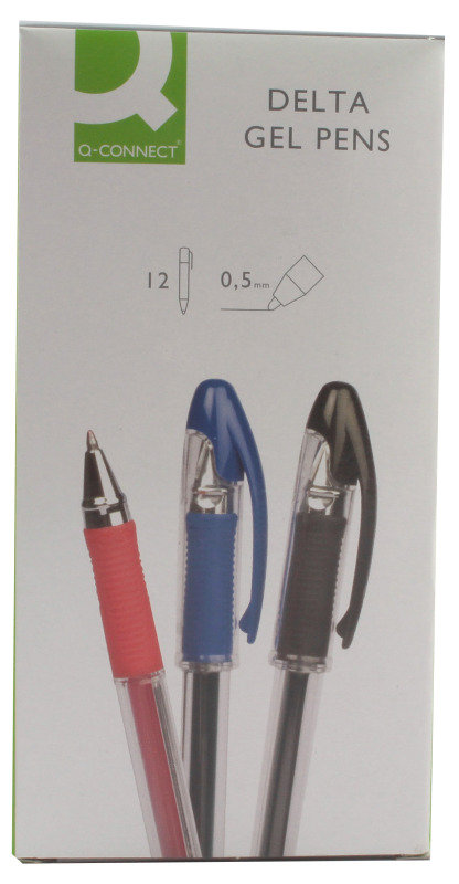Q Connect Delta Gel Pen Blue - 12 Pack