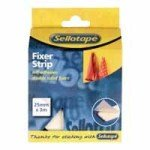 Sellotape Sticky Fixer Strip - 25mmx3M