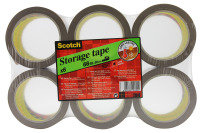 Scotch Low Noise Buff Tape 48x66m - 6 Pack