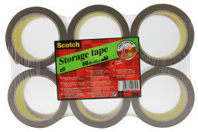 Scotch Low Noise Buff Tape 48x66m - 6 Pack
