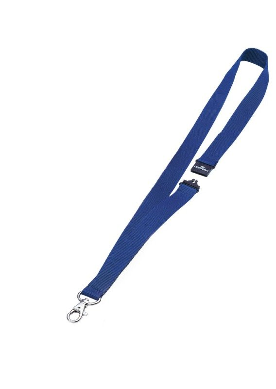 Durable Textile Badge Necklace/Lanyard With Safety Release Blue 10 Pack