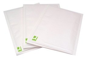 Q-Connect Bubble Lined Envelope Size 4 180 x 265mm White (Pack of 100)