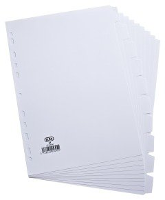 Elba Card Divider A4 10-Part 160gsm White