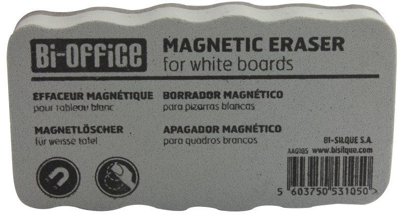 Bi-Office White Lightweight Magnetic Eraser