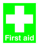 Safety Sign First Aid 100x250mm PVC