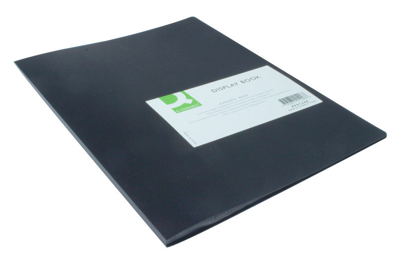 Q CONNECT DISPLAY BOOK 10POCKET BLACK