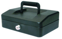 HELIX 20CM SLOPING LID CASH BOX BLACK