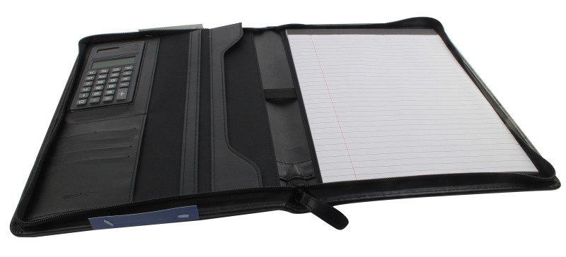 CONFERENCE FOLDER A4 CW CALC BLACK 2914