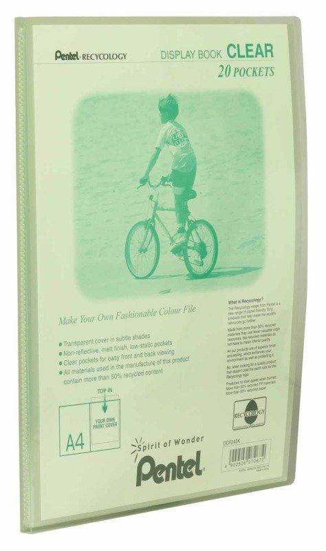 Pentel Recy A4 Disp Bk Clr 20pkt L/green - 20 Pack