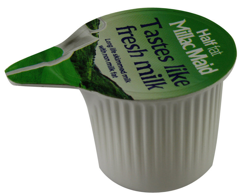 Image of Lakeland Half Fat Semi Skimmed Milk Pots - 120 Pack