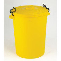 FD DUSTBIN 110L WITH LID YELLOW 382069