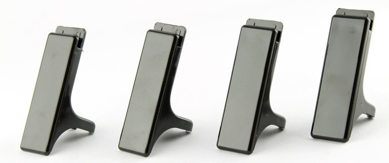 Q-Connect Executive Letter Tray Risers Black Pk 4