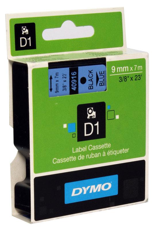 Image of DYMO 1000/5000 TAPE 9MMX7M BLK/BLU 40916