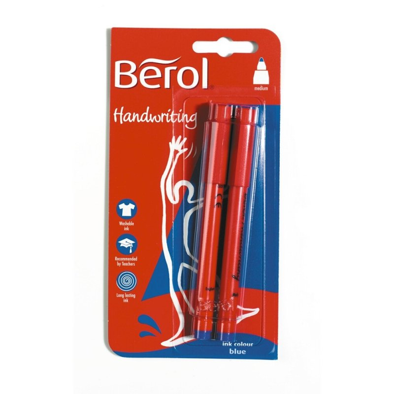 Berol Handwriting Blister Carded Black - 2 Pack