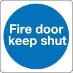 Fire Door Keep Shut 100x100mm S/a Km14as - 5 Pack