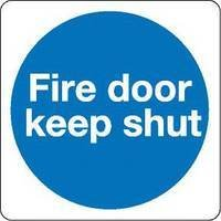 Fire Door Keep Shut 100x100mm S/a Km14as - 5 Pack