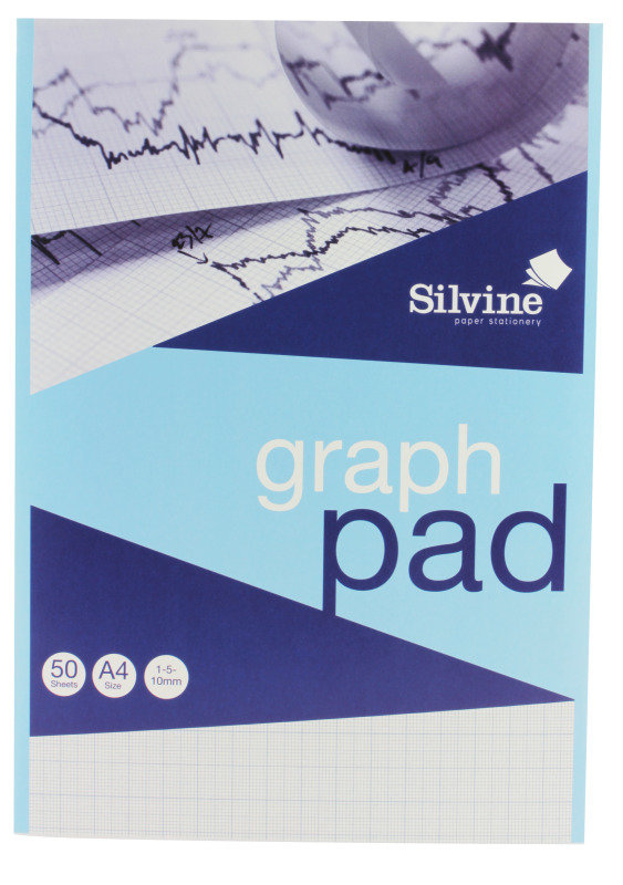 Silvine Refill Pad A4 50lf Graph Mm A4gp - 12 Pack