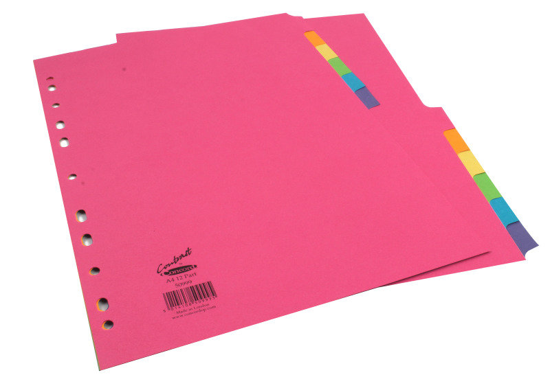 Concord Bright Divider A4 12 Part Assorted