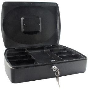Q Connect 10 Inch Cash Box - Black