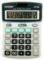 Aurora DT398 12 Digit Semi Desktop Calculator