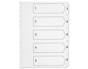 Q-Connect Multi-Punched 1-5 Reinforced White Board A4