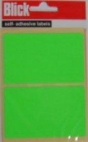 Blick Label Fluo Bag 50x80mm Grn 010654 - 20 Pack