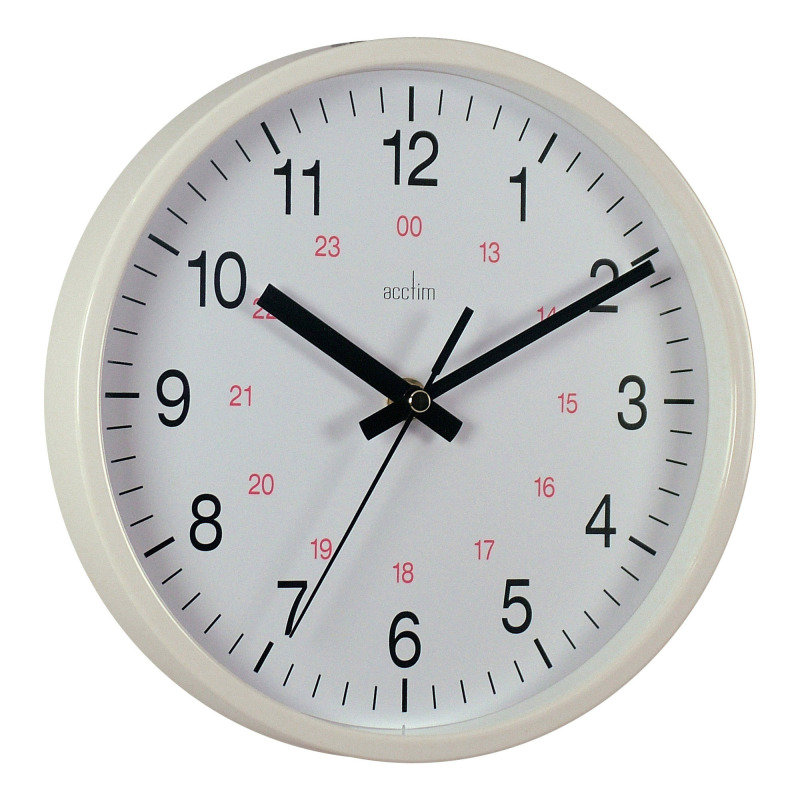 Image of ACCTIM METRO 14INCH WALL CLOCK WHT 21202