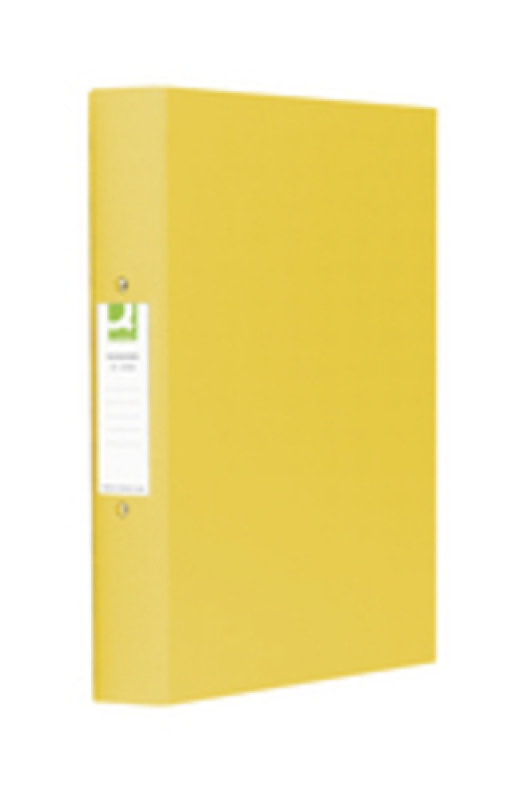 Q Connect A4 2 Ring Binder Pp Ylw - 10 Pack