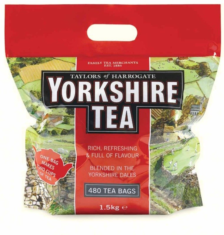 Yorkshire Tea Bags for Soft Water - 480 Pack