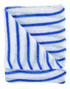Blue and White Hygiene Dishcloths 16x12 Inches (Pack of 10)