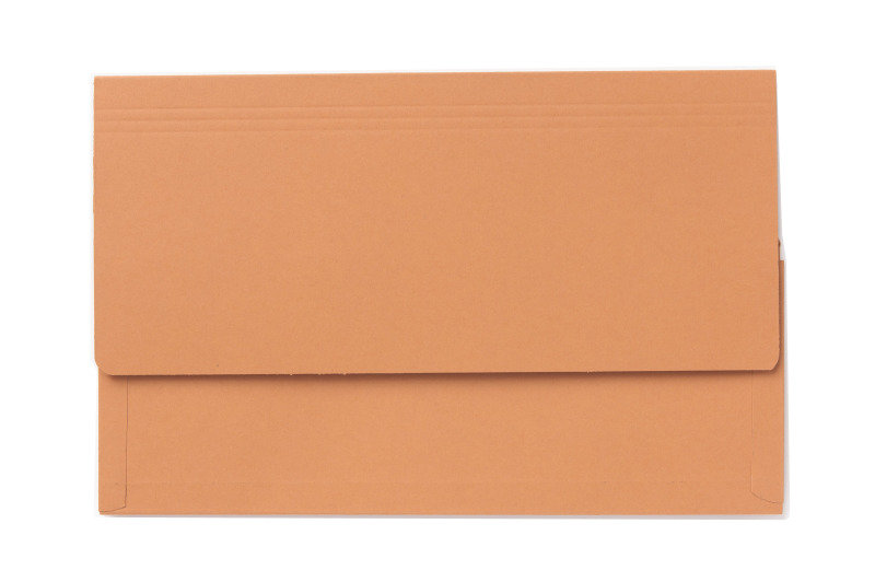 Image of Guildhall 3/4 Flap Legal Document Wallet Orange