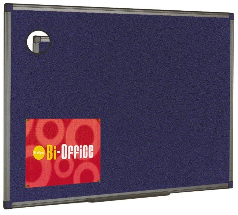 Image of BI OFFICE BLUE FELT BRD 1200X900 ALU FIN