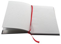 Oxford Blk N Red A5 Casebound Book Rcyc - 5 Pack