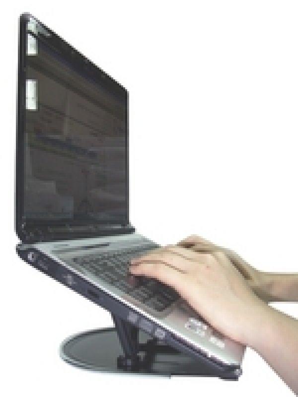 Q Connect Aluminium Laptop Stand  Black