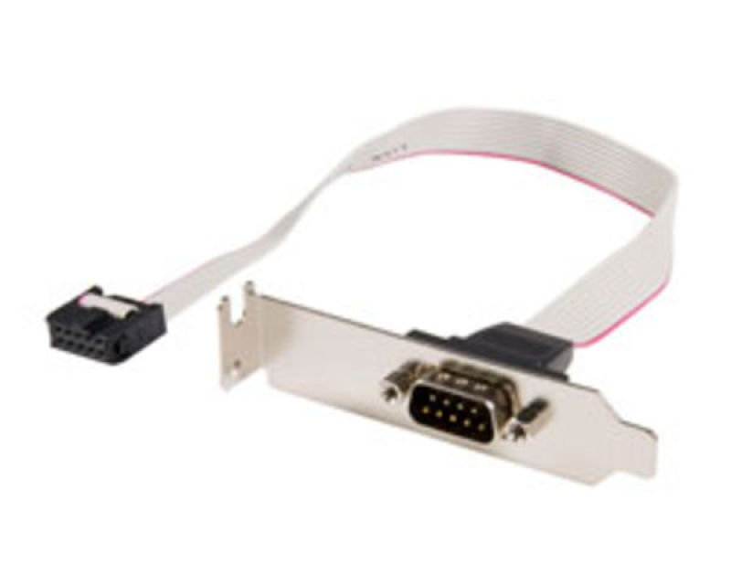 StarTech.com 9 Pin Serial Male to 10 Pin Motherboard Header LP Slot Plate