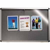 NOTICEBOARD 900X600MM VISUAL INSERT GREY