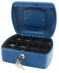Q Connect 8 Inch Cash Box - Blue
