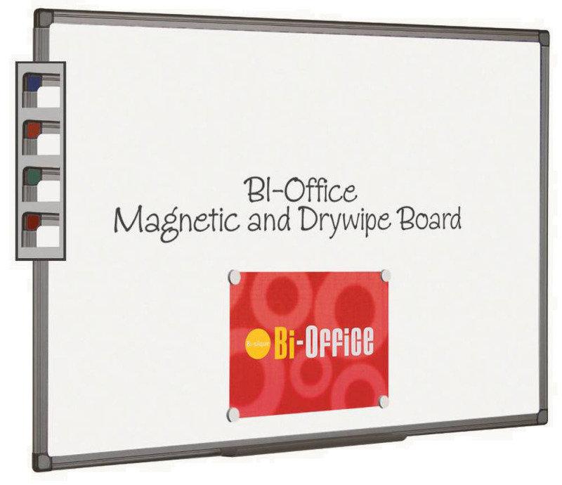 BIOFFICE MAG WHTBRD 600X450MM ALUM FIN