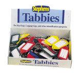Stephens Tabbies 30mm ID Label Keyrings - 50 Pack