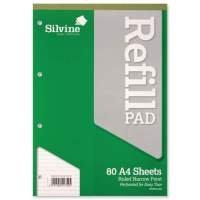 Silvine Refill Pad A4 80sht Narr Feint - 6 Pack