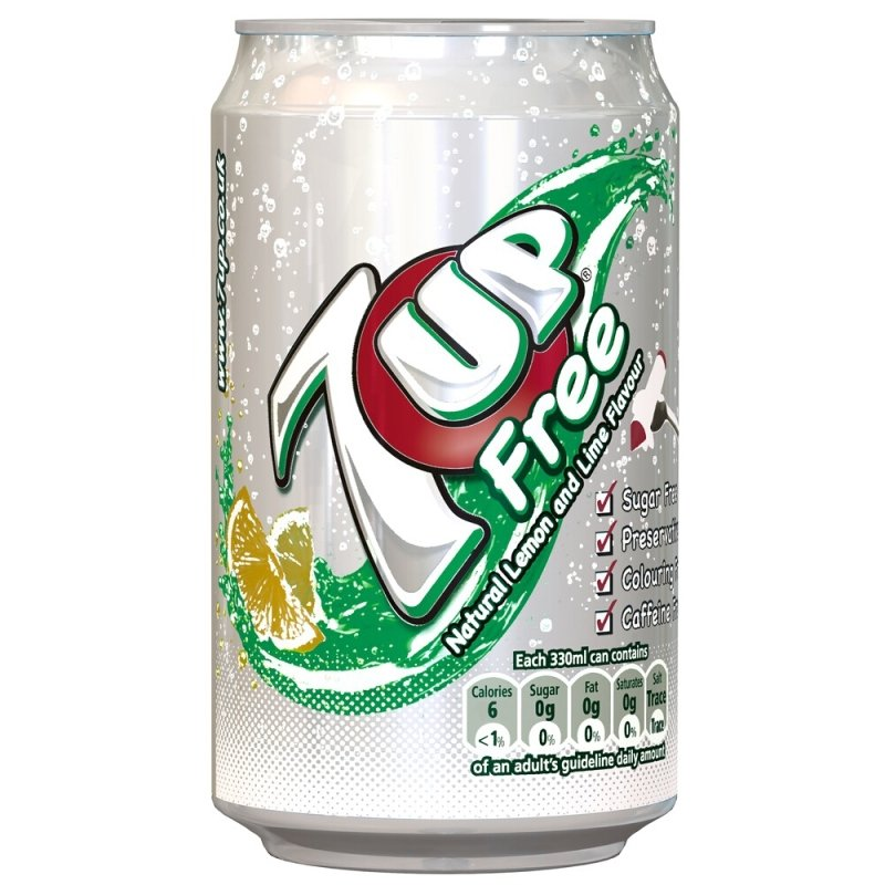 Image of 7up Free 330ml Cans - 24 Pack