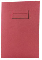 Silvine A4 Exer Book 80pg Lined Marg Red - 10 Pack
