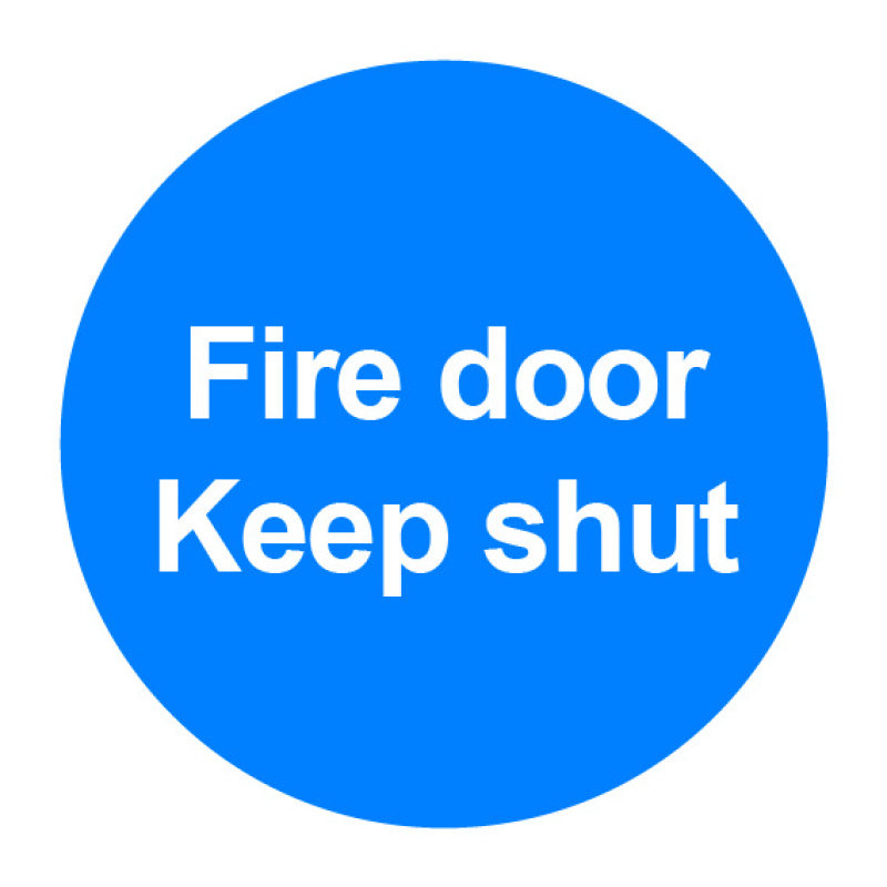 Extra Value 100x100mm PVC Safety Sign - Fire Door