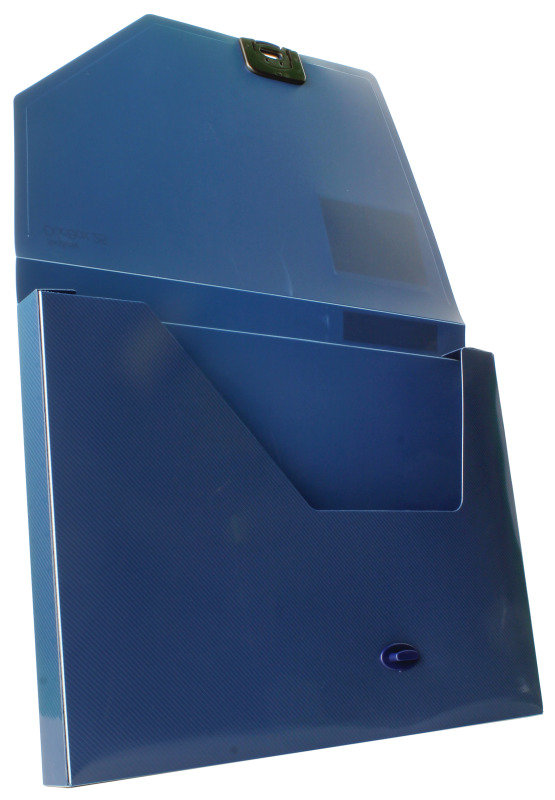 Snopake DocBox (A4) Polypropylene Box File with Push Lock 25mm Spine (Dark Blue)