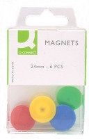 Q Connect Magnets 24mm 6pk Assorted - 10 Pack