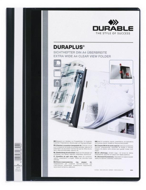 Durable DURAPLUS Quotation Folder A4 Black 25 Pack