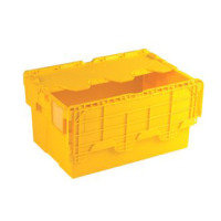 ATTACHED LIDDED BOX YELLOW 375817