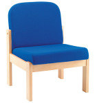 FF ARISTA RECEPTION SEAT BCH VENEER BLU